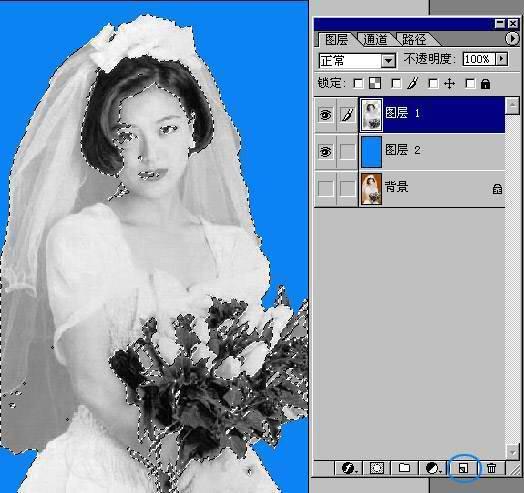 adobe photoshop cs 婚纱抠图(最简法)