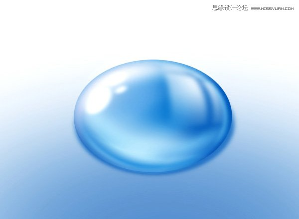 本教程主要使用photoshop绘制逼真的蓝色椭圆形水珠,水珠构成是非常